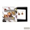 CHOCOLATE GOLD EARRINGS GENUINE MURANO GLASS