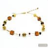 Gold Murano glass necklace real italian jewel from Venice