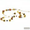 MIX FAUVE JEWELRY SET IN REAL MURANO GLASS