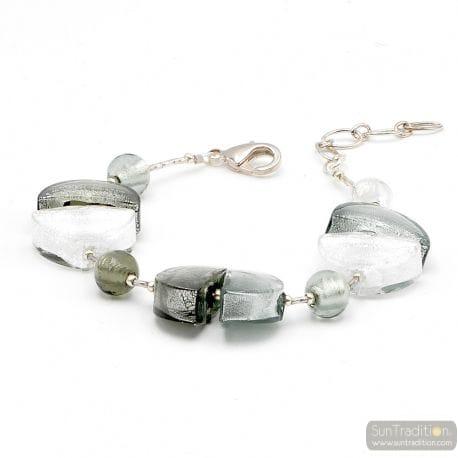 Silver Murano glass bracelet Venice