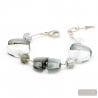 Silver bracelet - Silver Murano glass bracelet Venice