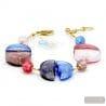 BLUE AND GOLD BRACELET - Blue genuine Murano glass bracelet of Venice Italy