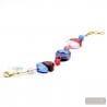 BLUE BRACELET - Blue genuine Murano glass bracelet venitian jewellery of Italy