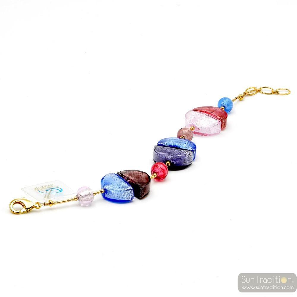armband blau aus echtem Murano glas aus Venedig