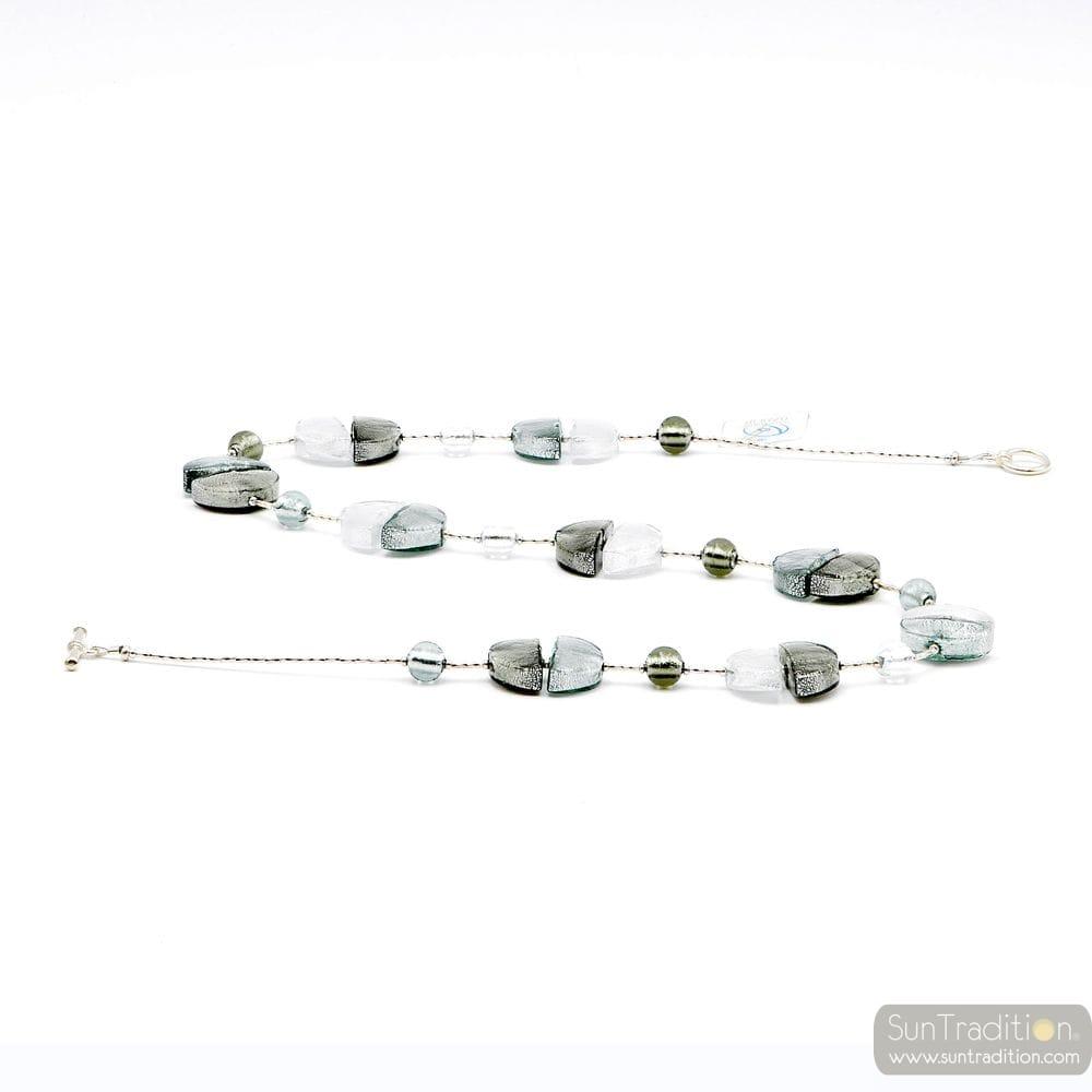 NECKLACE SILVER GENUINE MURANO GLASS OF VENICE