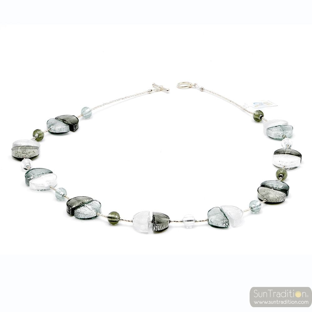 Colorado silver - Silver Murano glass necklace Venitian jewellry Italy