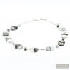 SILVER COLLAR - Silver Murano glass necklace Venitian jewellery Italy