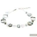 Colorado silver - Silver Murano glass necklace true italian jewellry from Venice
