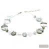 silver necklace - Silver Murano glass necklace true italian jewellry from Venice