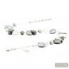 silver glass necklace - Silver Murano glass necklace true italian jewellry from Venice