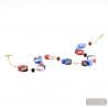 Blue and red Murano glass necklace genuine venitian jewellery Italy