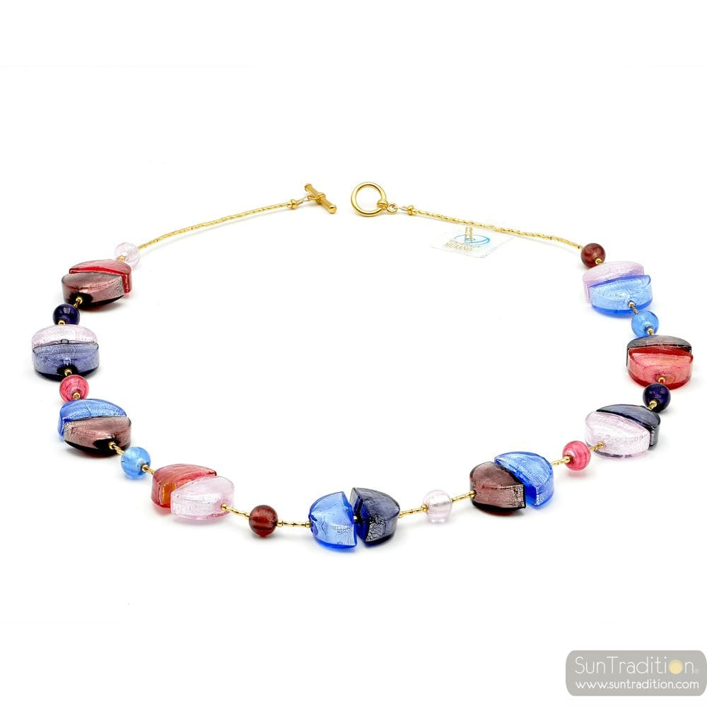 astro bijoux blue glass necklace bracelet collection dim and jewelry murano