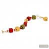 Red Murano glass bracelet genuine Murano glass Venice