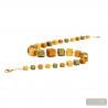 Green and gold Murano glass necklace real venitian jewellery from Italy