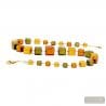 Green and gold Murano necklace real italian jewellery from Venice Italy