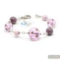 Galaxy liac - Genuine Lilac Murano glass bracelet Venice Italy