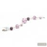 Lilac Murano glass bracelet Venitian jewellery Italy
