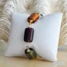AMBER MURANO GLASS BRACELET GENUINE VENITIAN JEWELRY