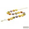 NECKLACE GOLD AND PARMA IN GENUINE MURANO GLASS FROM VENICE