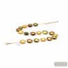 Gold Murano glass necklace real venitian jewel of Italy