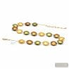 GOLD MURANO GLASS NECKLACE OF VENICE