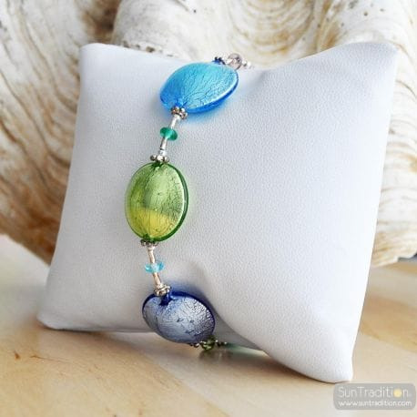 MULTICOLOR MURANO GLASS BRACELET FROM ITALY