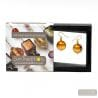 PASTIGLIA AMBER GOLD OR EARRINGS TRUE MURANO GLASS VENICE