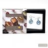 BLUE EARRINGS CHARLY FILI IN REAL MURANO GLASS VENICE