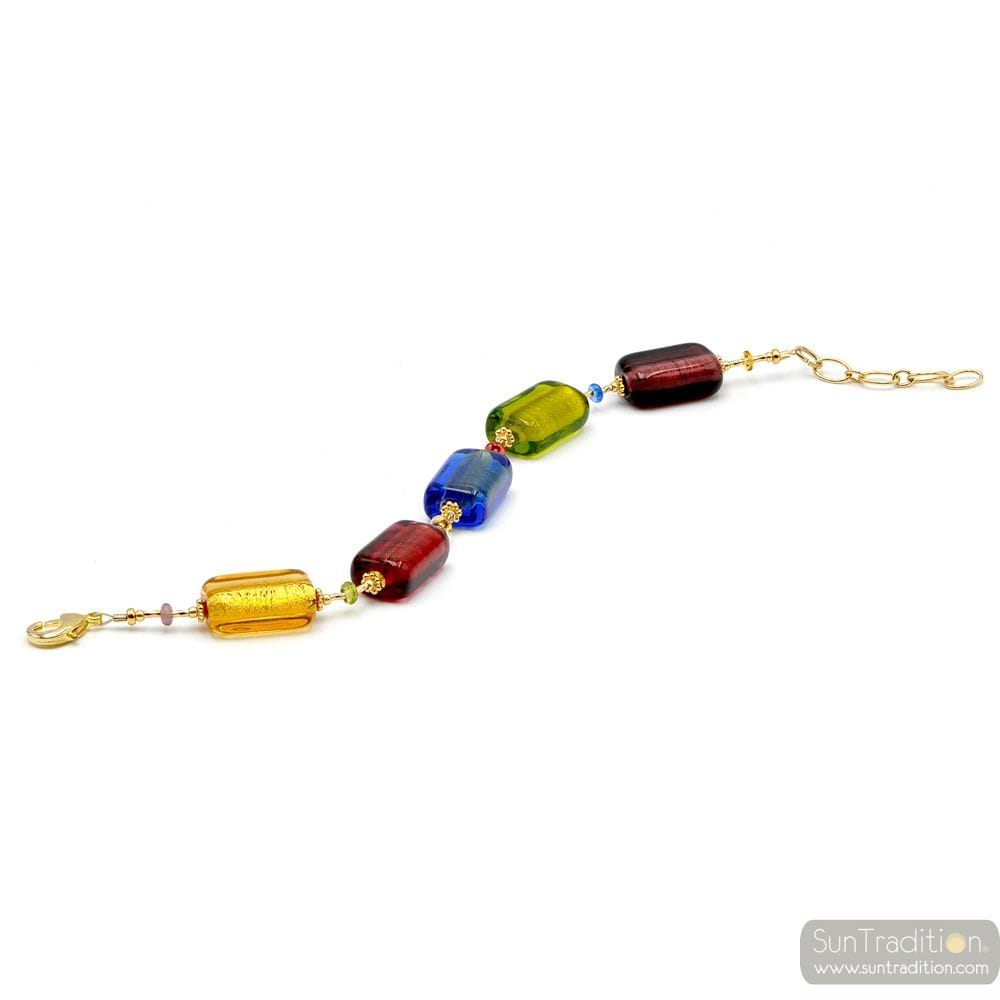 multicolor Murano glass bracelet jewellery from Venice Italy