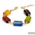 4 Seasons summer - Genuine multicolor Murano glass bracelet from Venice