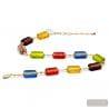 Multicolor and gold Murano glass collar true italian jewellery from Venice