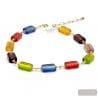 Multicolor Murano glass necklace true italian jewellery from Venice