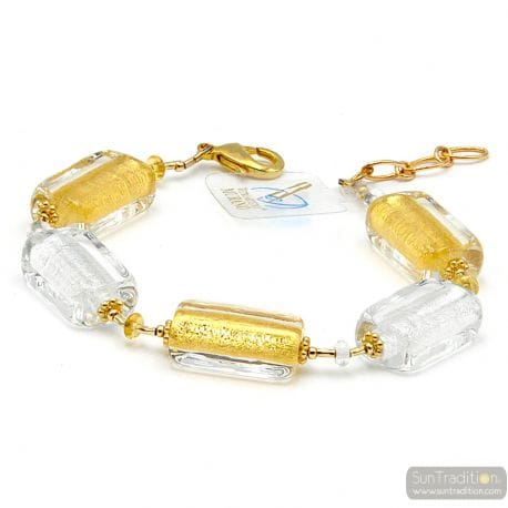 Gold Murano glass bracelet from Venice