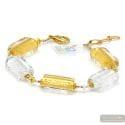 4 SEASONS WINTER - GOLD MURANO GLASS BRACELET FROM VENICE