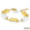Gold Murano glass bracelet from Venice