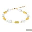 4 Seasons winter - Gold Murano glass necklace real venitian jewel of Venice Italy