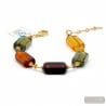 Amber Murano glass bracelet Genuine Murano glass bracelet Venice