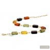 Amber Murano glass necklace genuine Jewellery of Venice Italy