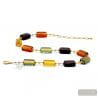 NECKLACE JEWEL MULTICOLOR GENUINE GLASS OF MURANO FROM VENICE