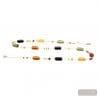 Long multicolor Murano glass necklace true venitian jewel of Venice Italy