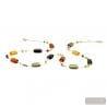 Long multicolor Murano glass necklace collar true venitian jewel of Venice Italy