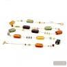 4 fall seasons long - Long multicolor Murano glass necklace true venitian jewel of Venice Italy