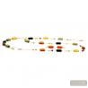 Amber Murano Glass Jewelllery set real Venitian jewel Italy