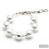 silver bracelet jewel- Genuine Silver Murano glass bradelet from Venice