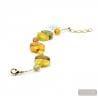 gold bracelet - Gold Murano glass bracelet Venice