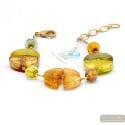 Colorado gold - Gold Murano glass bracelet Venice