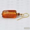 amber murano glass jewelry earrings