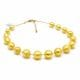 BALL GOLD - GOLD MURANO GLASS NECKLACE JEWELRY GENUINE MURANO GLASS OF VENICE
