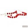 RED AND GOLD JEWELRY SET IN REAL MURANO GLASS VENICE