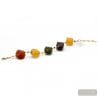 Large gold murano beads bracelet - Gold and glass Murano bracelet venitian jewellry Italy
